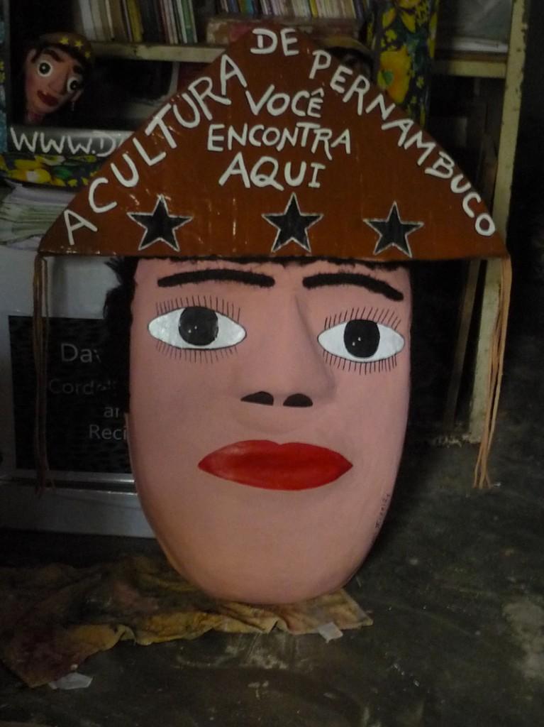 Mascara Gigante Maria Bonita no ateliê